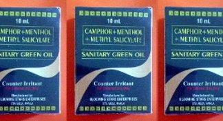 3 Sanitary Green Oil new