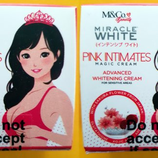 miracle white pink intimates