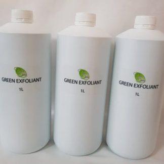 green exfoliant oil