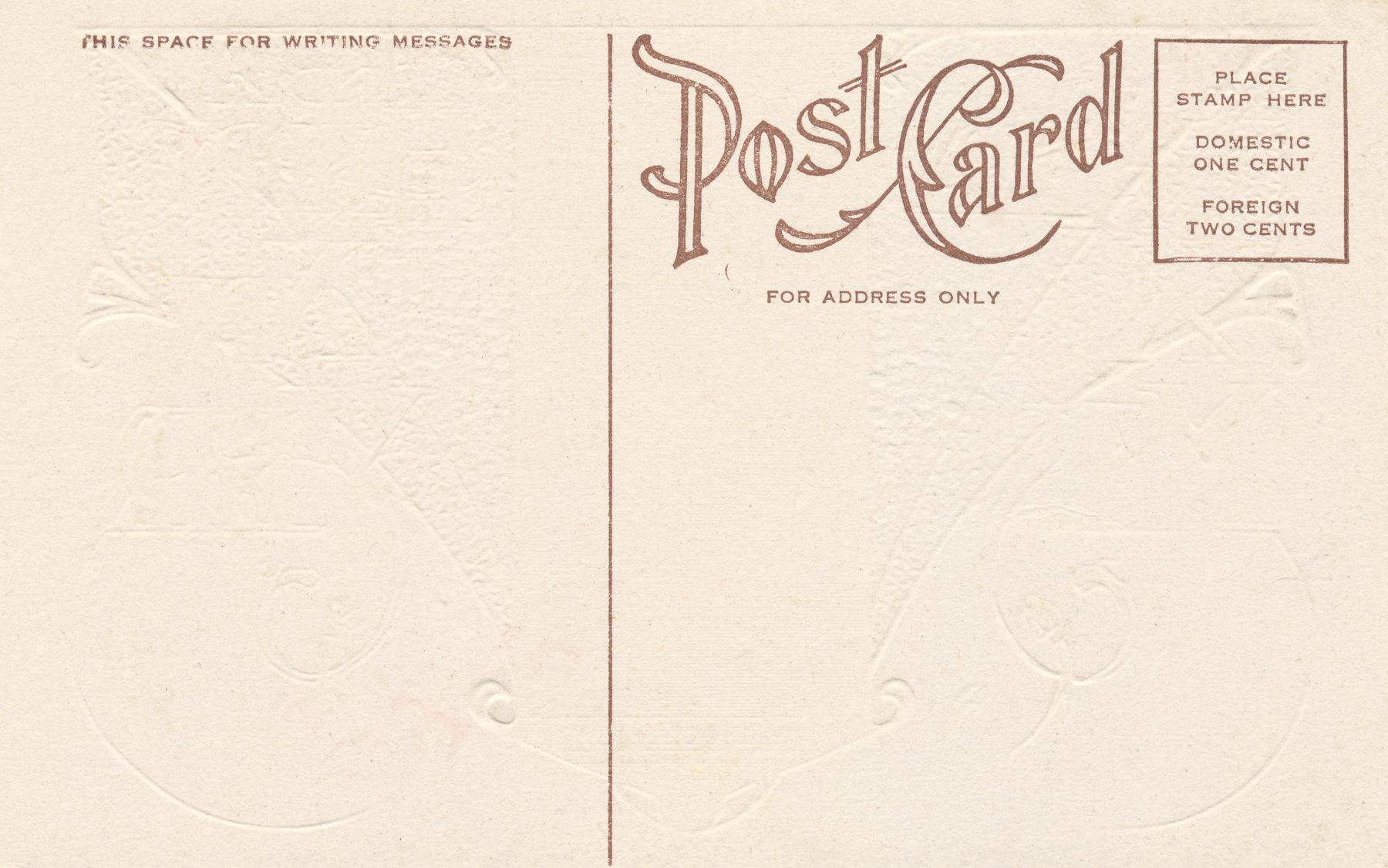Free Photo Blank Vintage Postcard