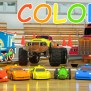 Free Photo Colorful Toy Car Artificial Road Move
