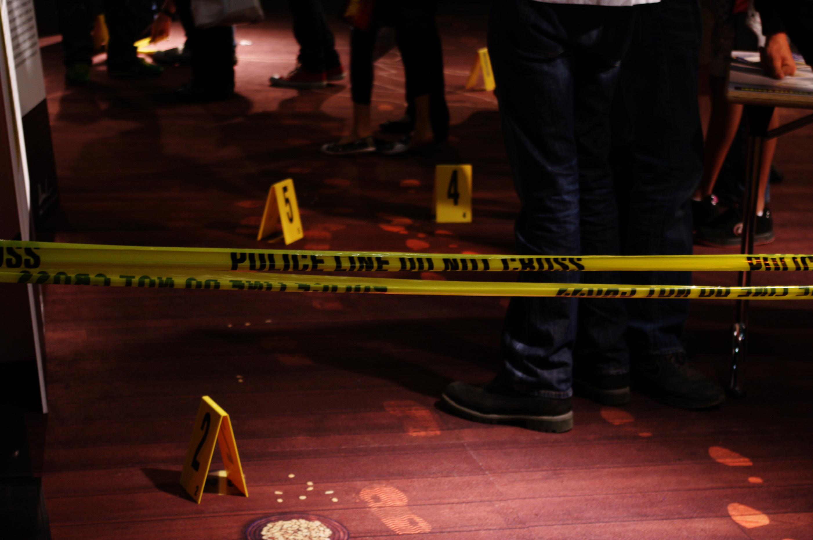 Free photo Crime scene investigation  Parquet Murder