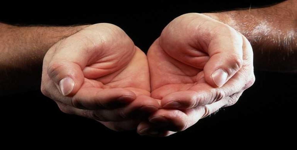 free photo cupped hands