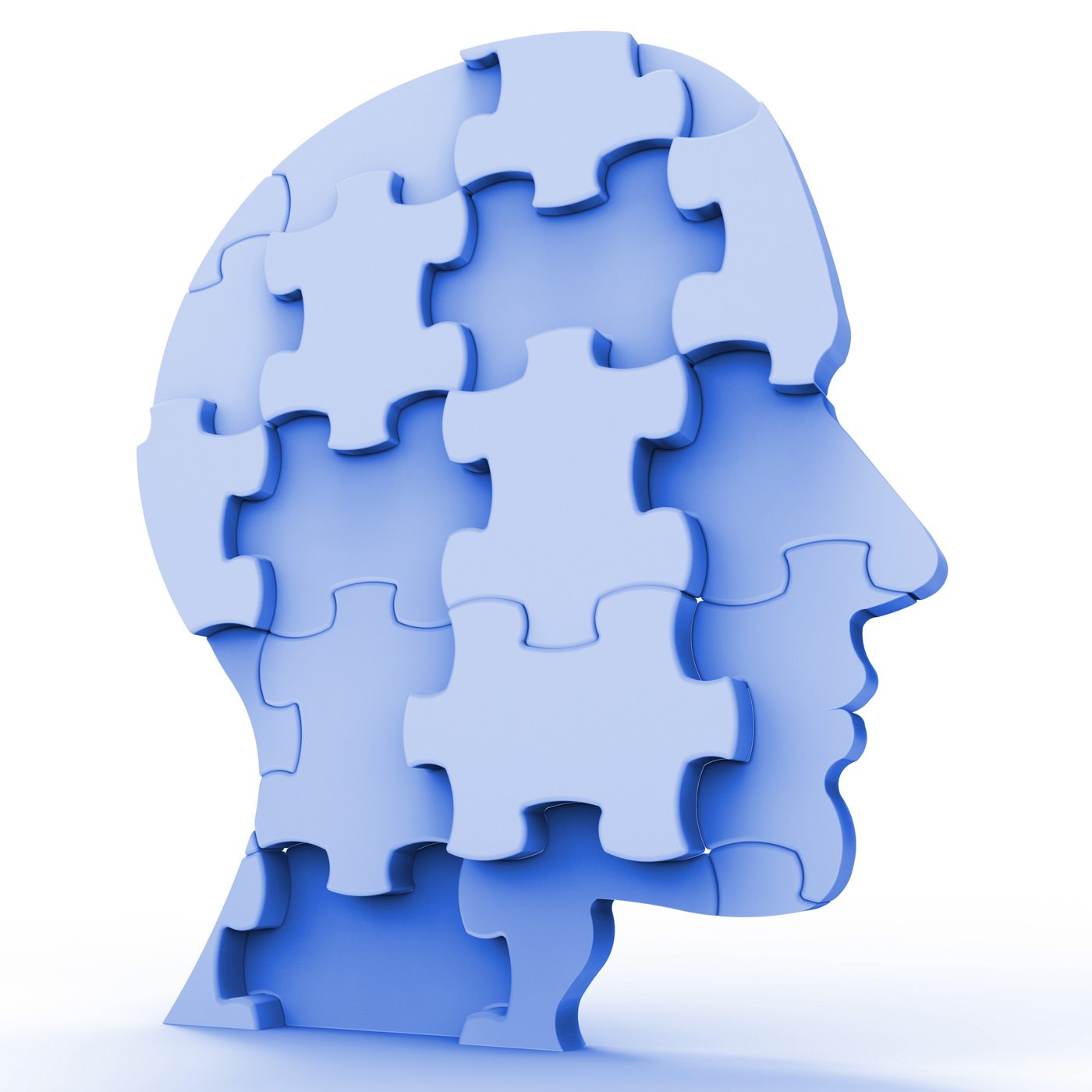 Free Photo Jigsaw Head Represents Plans Person And Piece