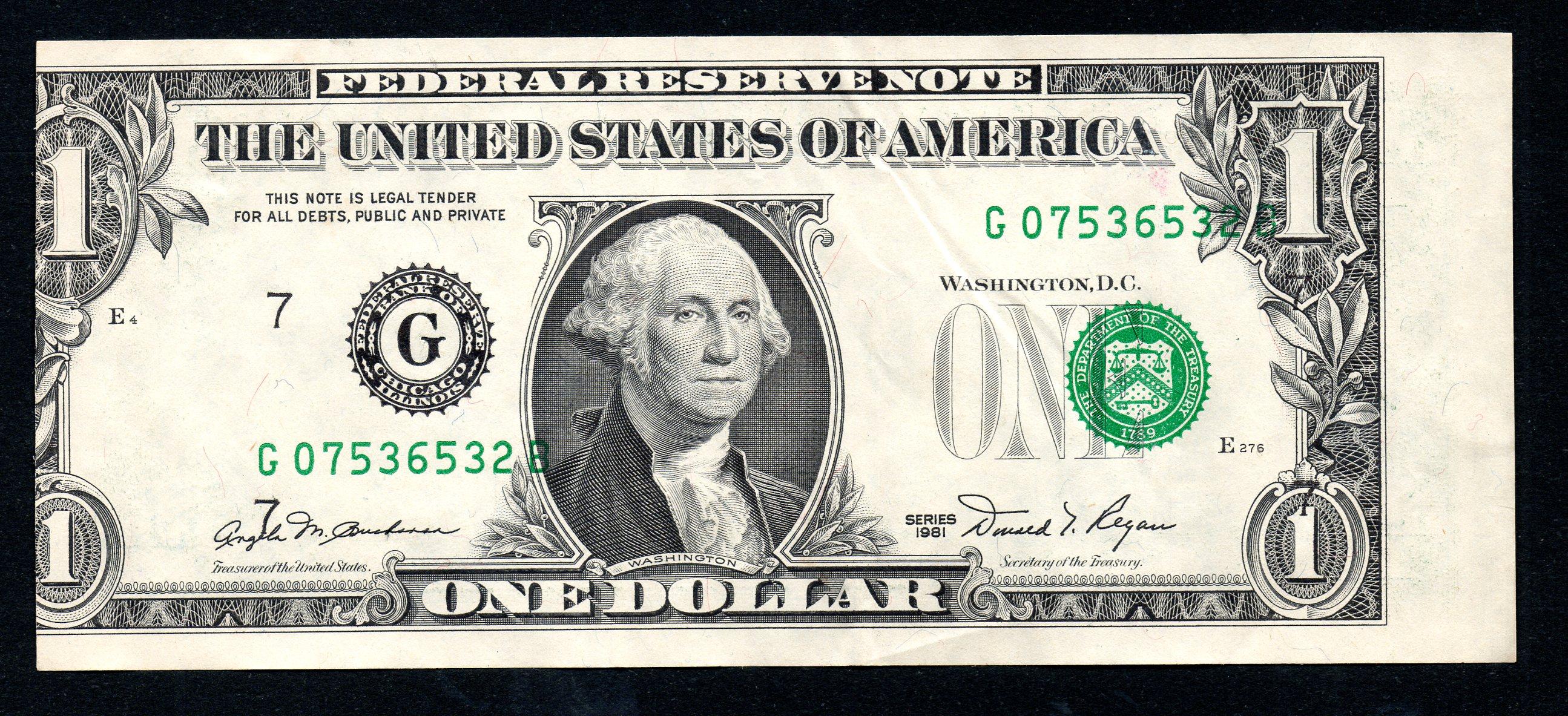Free Photo One Dollar
