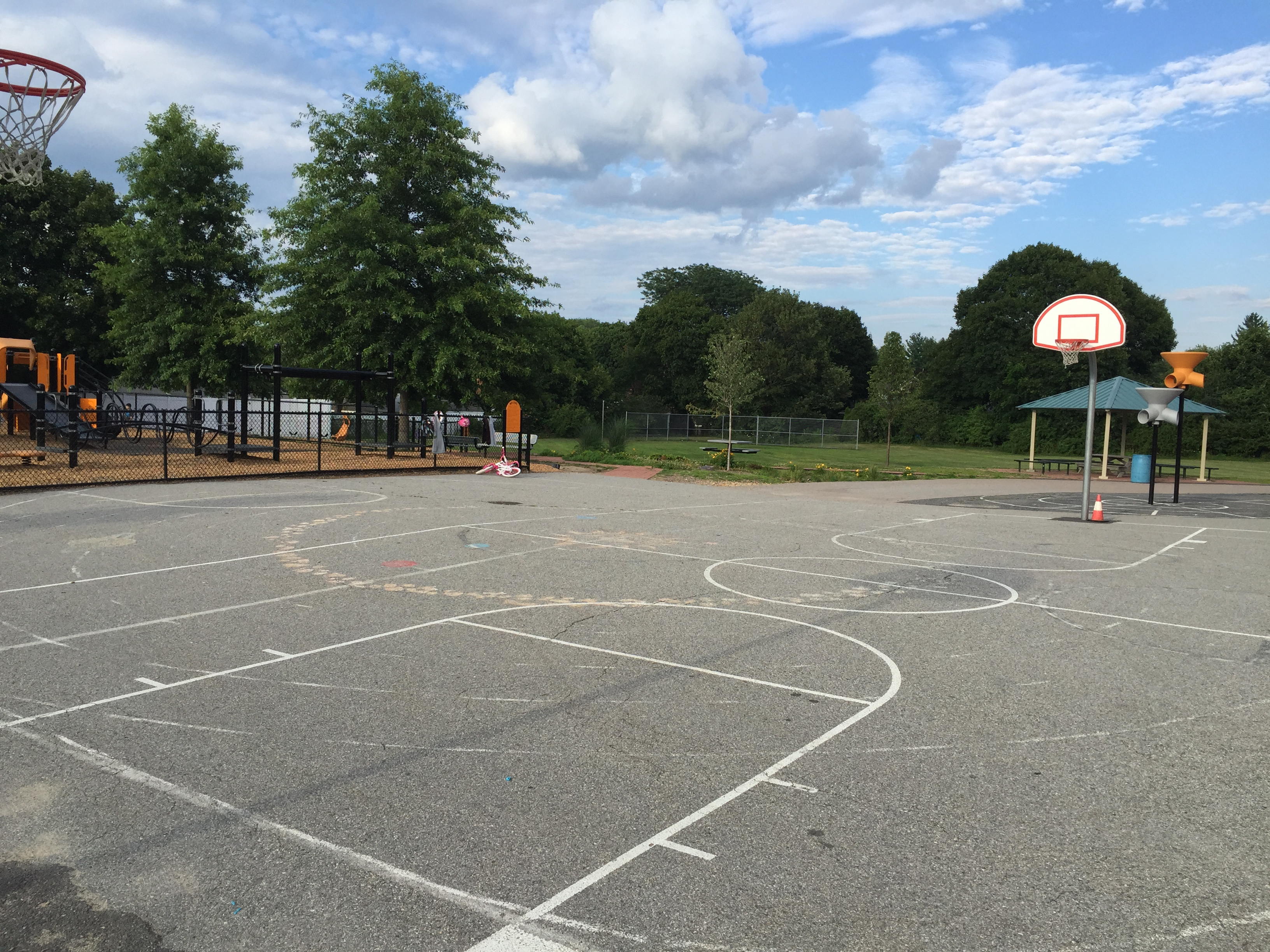 Free photo Outdoor Basketball Court  Outside Outdoors