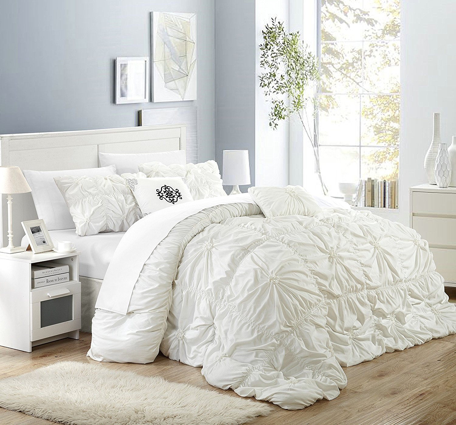 free photo white bed comforter bed