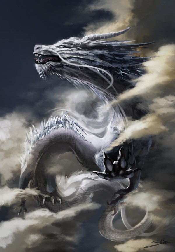 Free White Chinese Dragon - Sculpture Monster