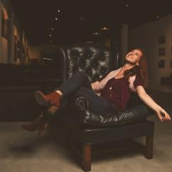 Hair On Hide Office Chair Ghost Free Photo Woman In Maroon Scoop Neck Shirt Sitting