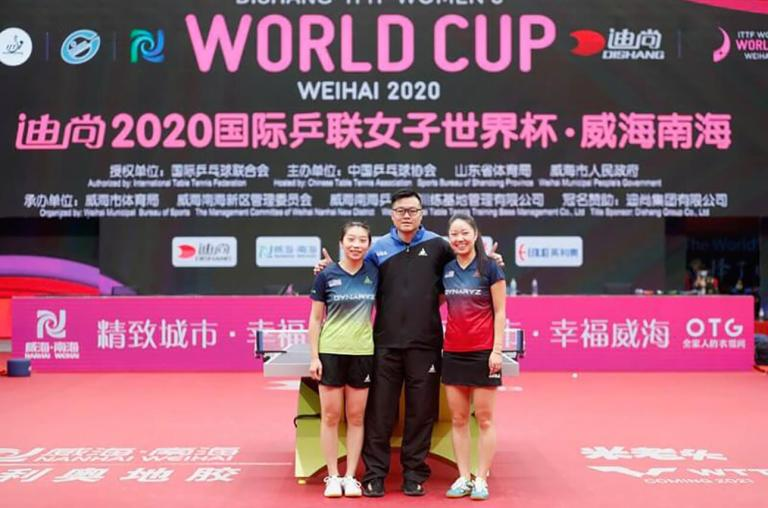 Wu Yue & Lily Zhang with Coach Jeffrey Zeng