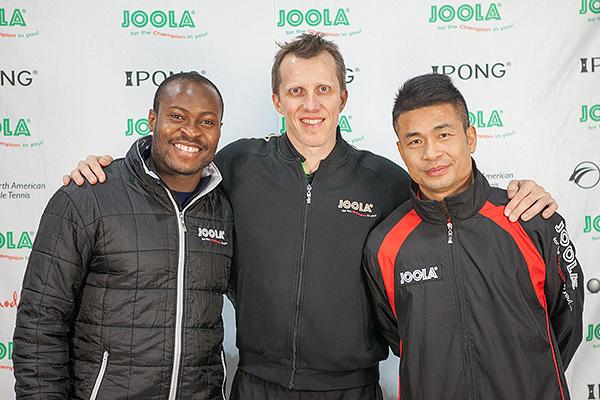 Team JOOLA - Aruna Quadri, Joerg Rosskopf, Chen  Weixing