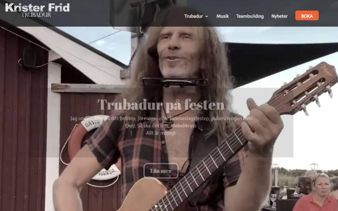 Kundcase: Krister Frid – Trubadur