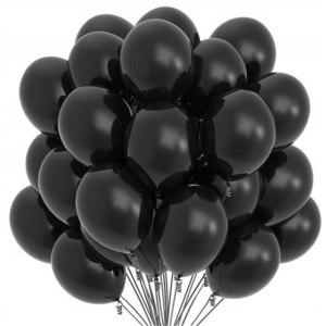 svart latex Helium-ballonger