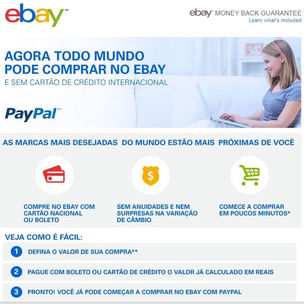 Compras no Ebay com Boleto e Cartão Nacional
