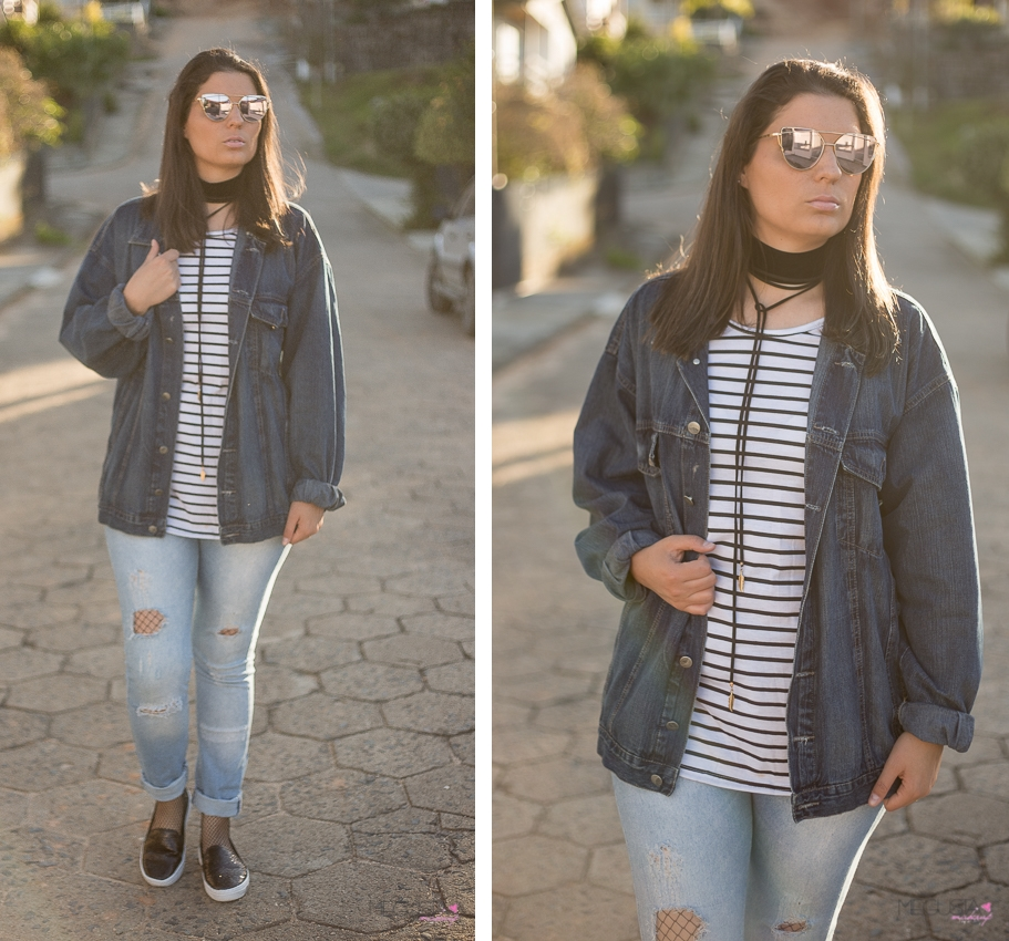 Look da Joo Arrastão jeans destroyed jaqueta oversized - Look da Joo: Arrastão + Jeans Destroyed e Jaqueta Oversized