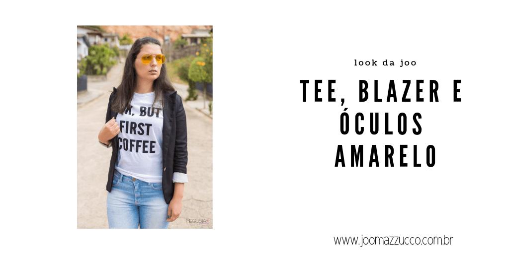 Elegance Functionality 51 - Look da Joo: Tee, Blazer e Óculos Amarelo