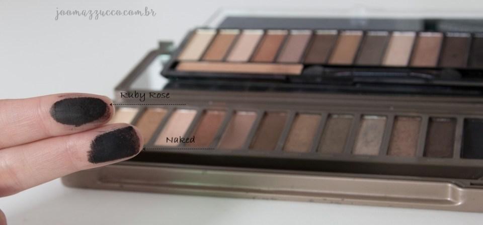 NAKED 2 x RUBY ROSE 8 - Comparando Naked 2 e Nude da Ruby Rose