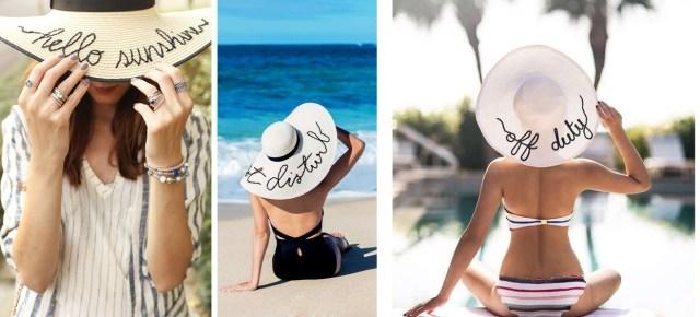 chapéu de palha 01 - Trendy de Verão: Chapéu de Palha Bordado
