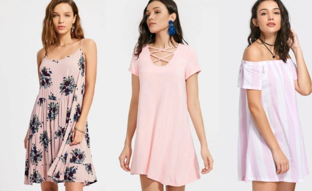 Vestidos rosa Zaful 001 - Vestidos Diversos pra Desejar e Se Jogar Agora
