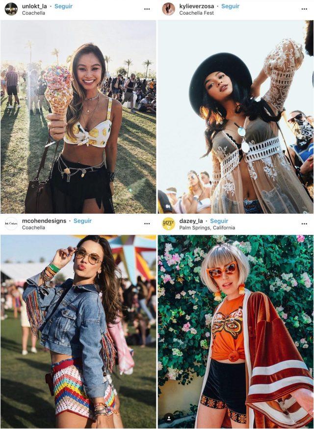 Galera estilosa no Coachella - Os Looks Mais Cheios de Estilo do Coachella
