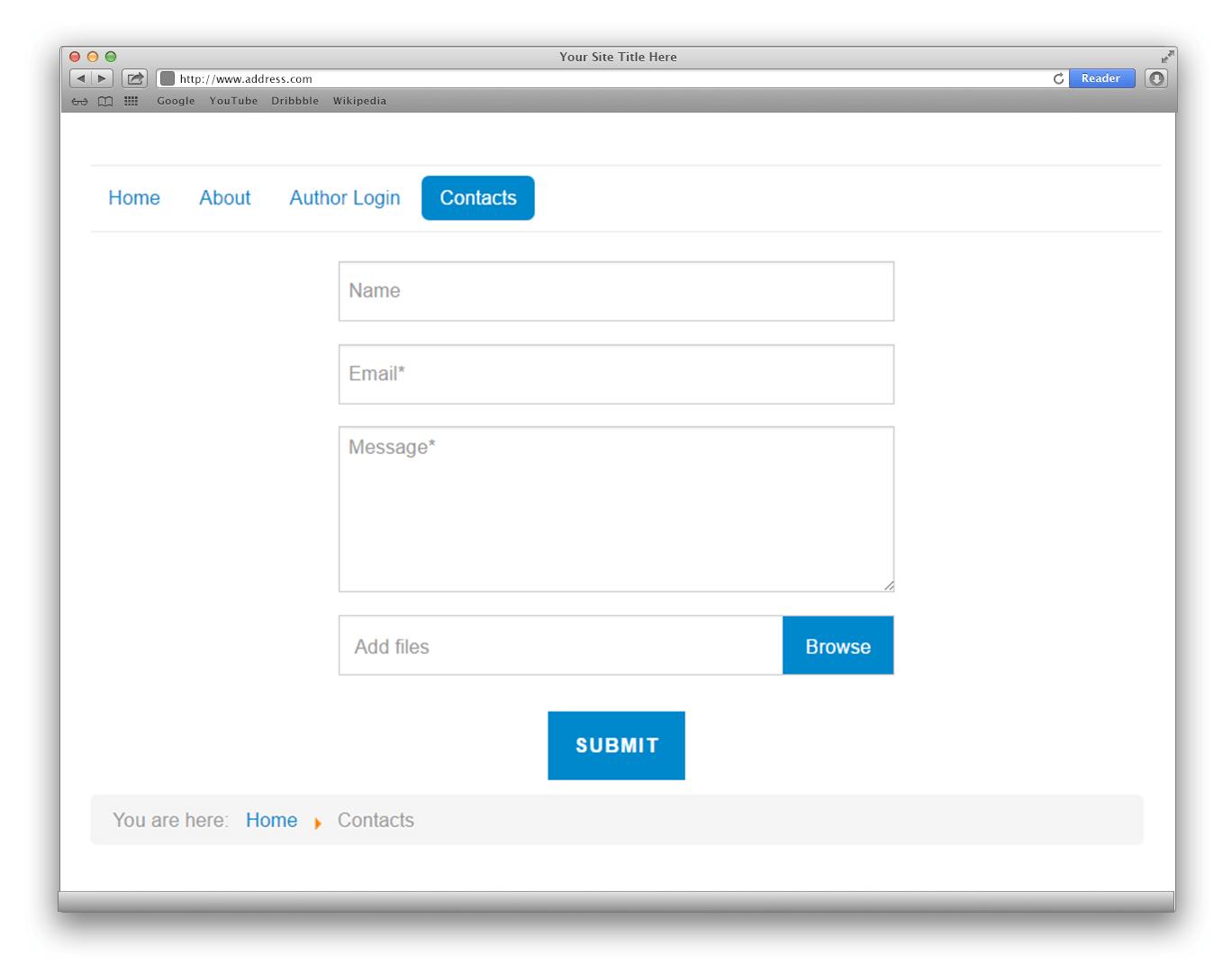 hight resolution of joomla contact form