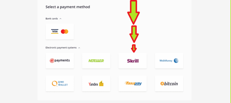 Using The Skrill Deposit Option to Fund Olymp Trade