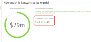 How much is Kenyans.co.ke worth