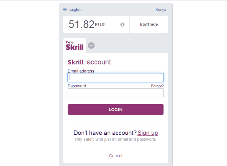 How to Fund Iron Trade With Skrill