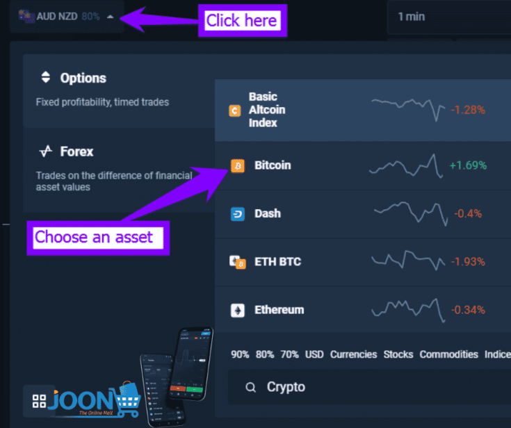 How to trade Bitcoin in Olymp Trade