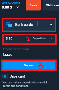 How to deposit to Olymp Trade fixed time trades