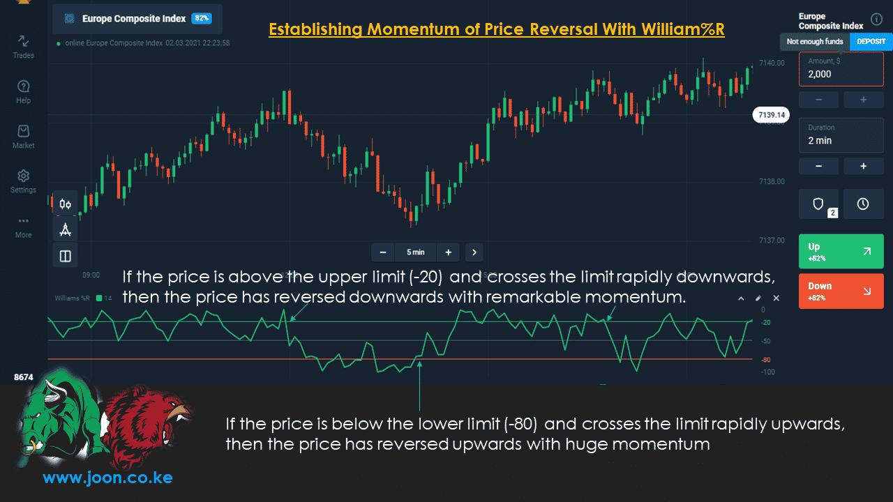 Establishing Momentum of Price Reversal With William%R