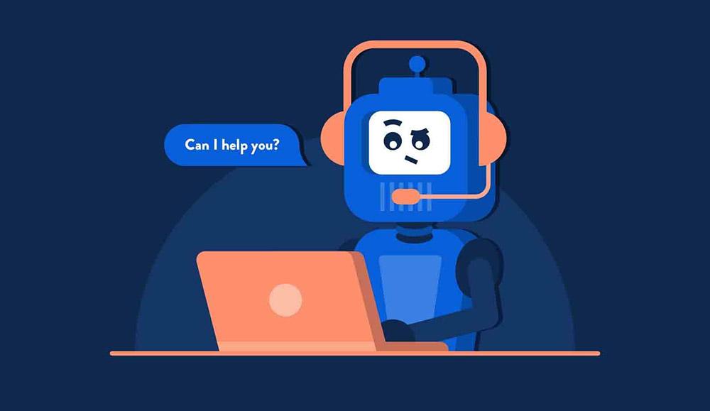 Chatbot conversational interface is simulating a conversation