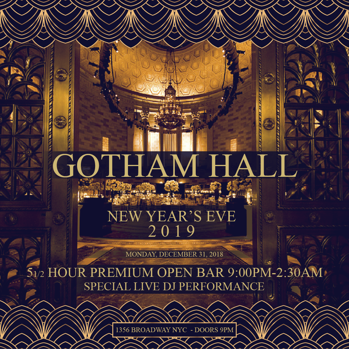Gotham Hall Bleecker St New Years Eve Block Party Charles Street NYE Party Federal Hill