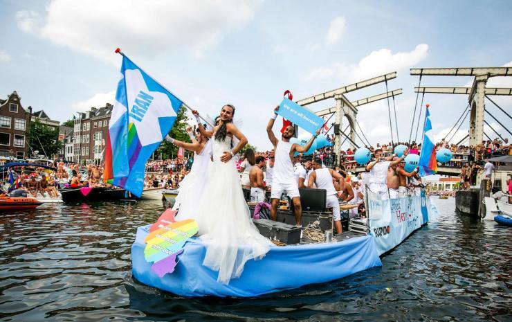 Iran Boat during Amsterdam Canal Pride 2018 - © het Parool