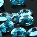 Joopy Gems blue zircon 6x4mm oval