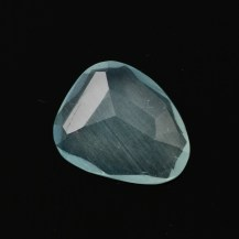 Aquamarine Rose Cut Freeform 2.730 carats, 12x10x3.3mm, $29.75