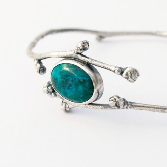 5. Lucie Veilleux: Botanical Bangle Flower Buds and Chrysocolla Bangle, $162