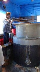 liquid soap making machine produce 50L in one time.