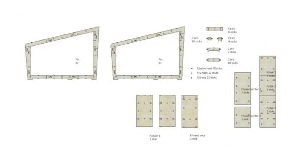 Het principe is gebaseerd op het wikihouse, een online gedeelde methode met het doel huizen te bouwen met enkel een hamer.