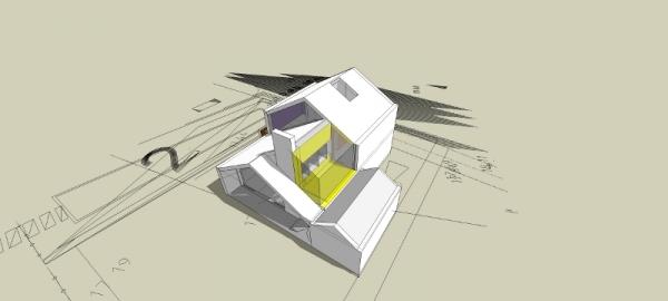 Visualisatie van ontwerp nieuwbouw woning