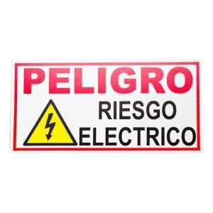 Señalizacion placa en poliestileno peligro riesgo electrico