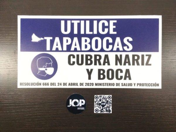 Señalizacion Utilice tapabocas