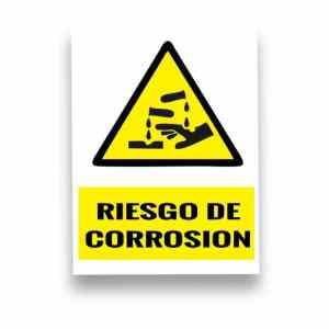 Señalización Riesgo de corrosión