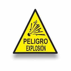 Señalización peligro explosión