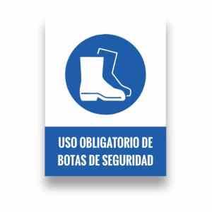 Señalización uso de botas