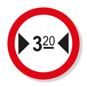 Ancho Máximo Permitido (SR-33) Señalización Vial
