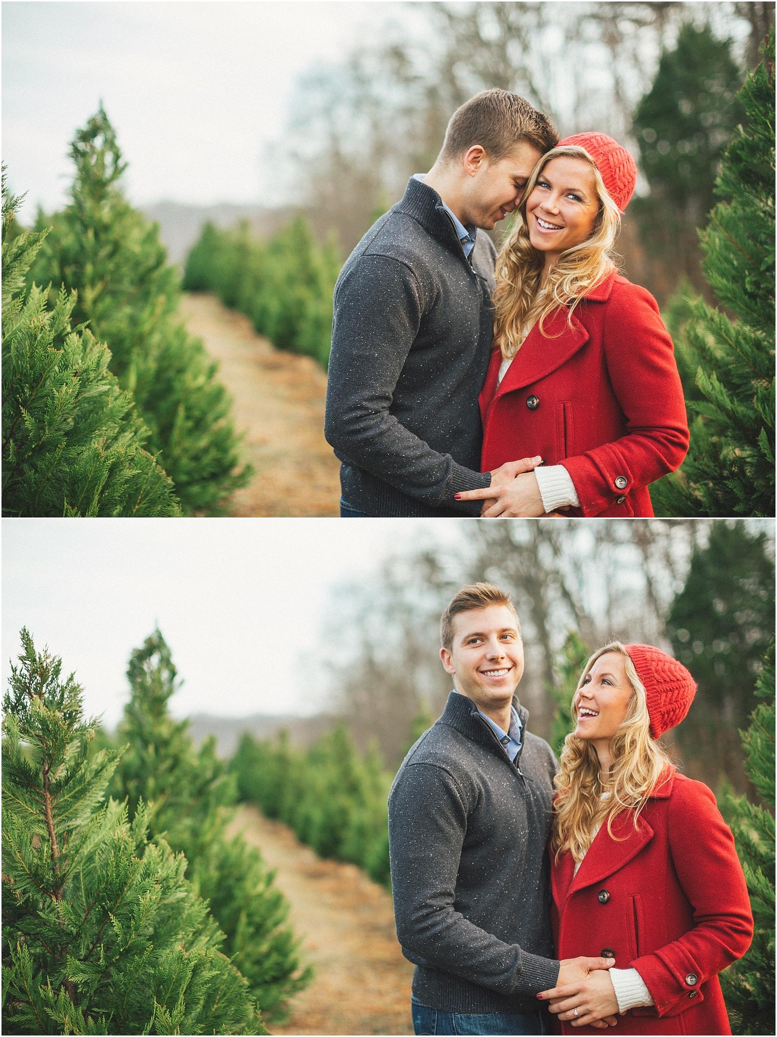 Christmas Tree Farm Engagement Ideas Amp Winter Wedding Decor