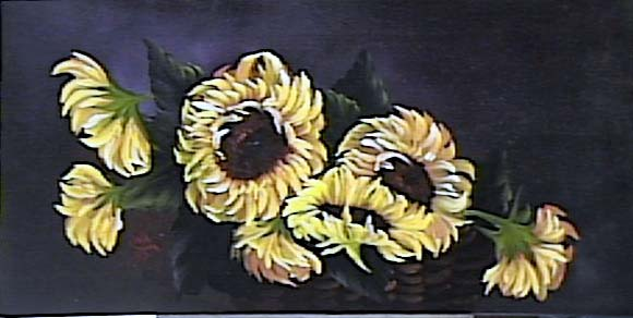 Sunflowers - 001 in Basket (1997)