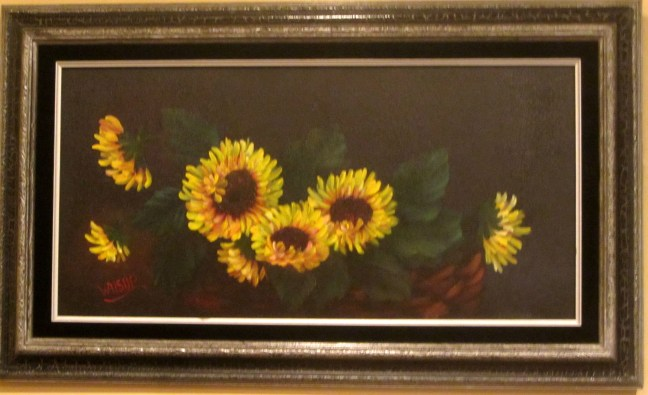 Sunflowers in a basket (2015)