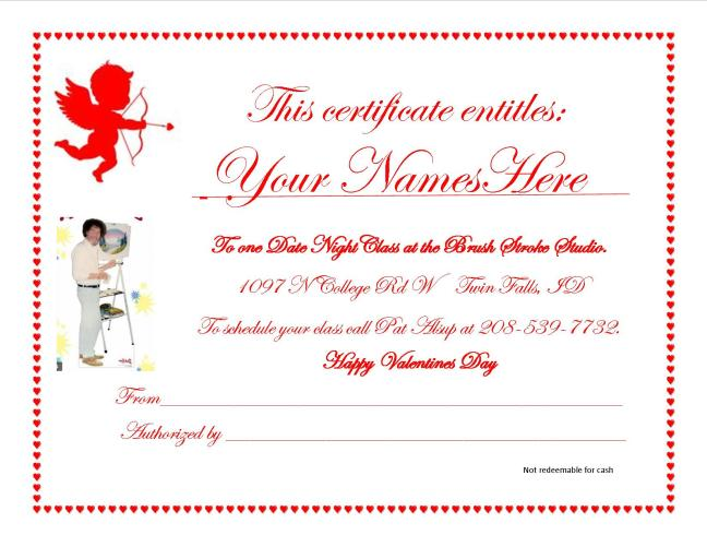 Gift Certificate February